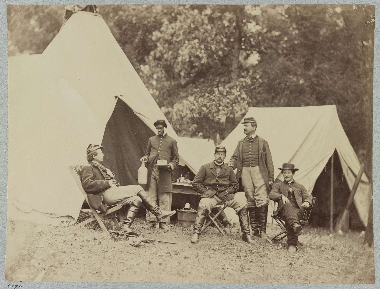 Group of officers at Headquarters Army of Potomac, June 1863