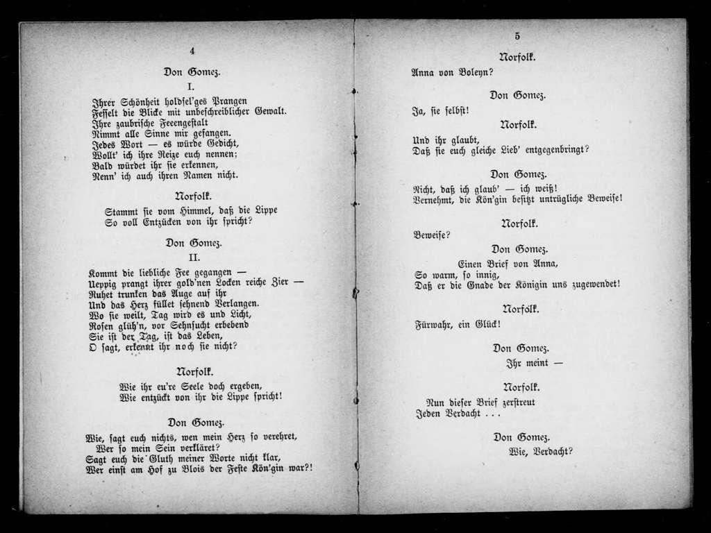 Henry VIII. Libretto. German