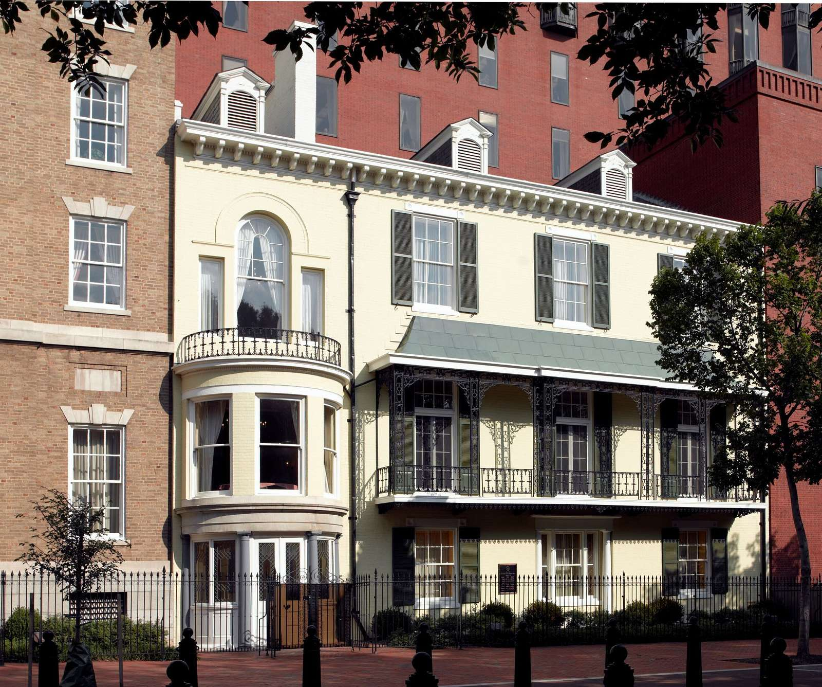 Historic home built by Benjamin Ogle Tayloe in 1830, LaFayette Park, located directly north of the White House on H Street between 15th and 17th Streets, N.W., Washington, D.C.