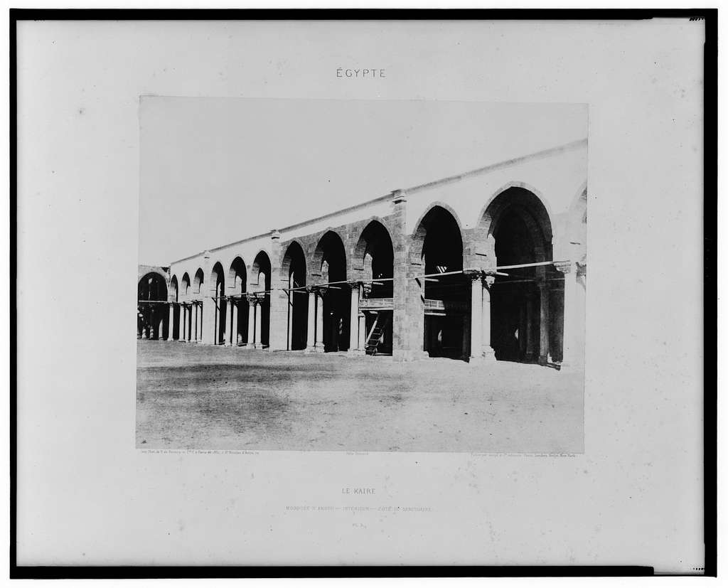 Le Kaire - mosquée d'Amrou - intérieur - côté du sanctuaire / Félix Teynard.