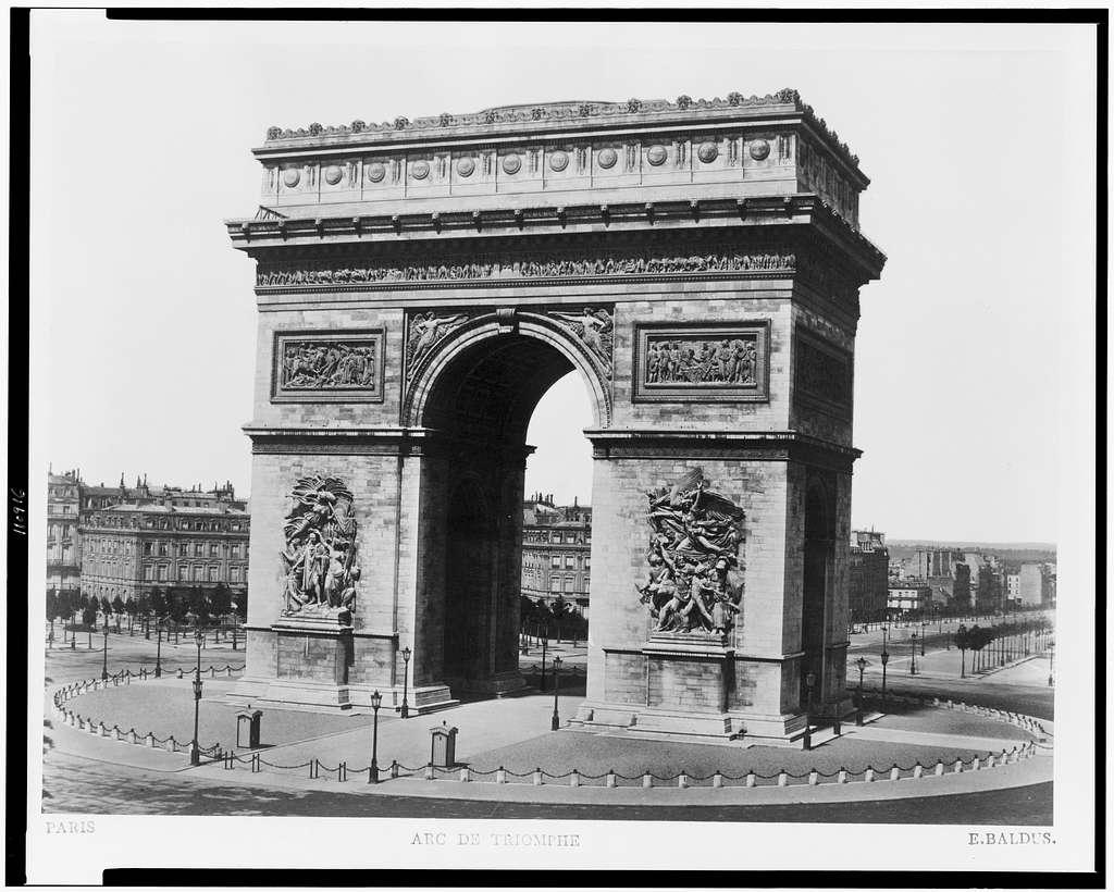 Paris. Arc de Triomphe / E. Baldus.