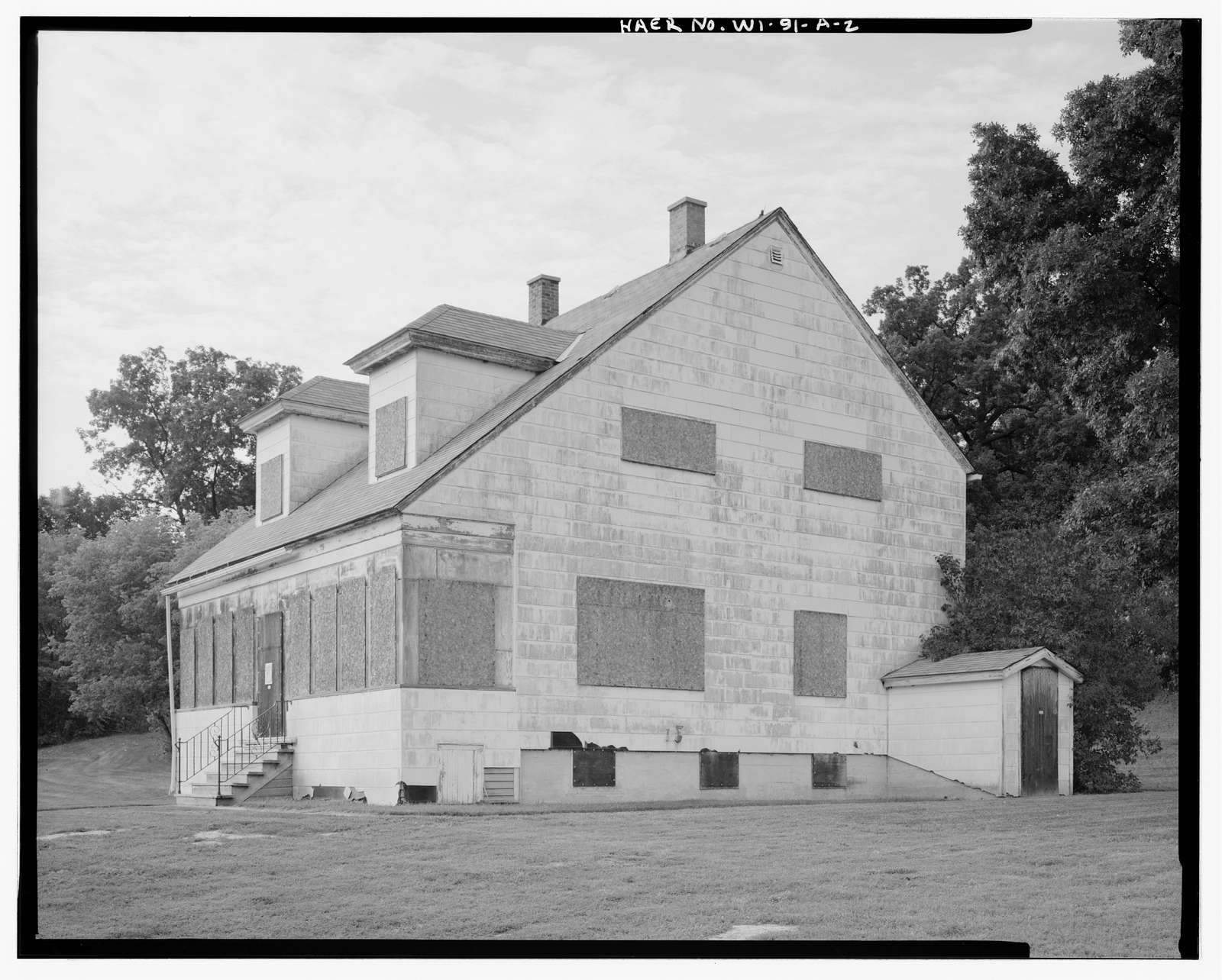 Rapide Croche Lock & Dam, Lockkeeper's Residence, Approximately 115 feet north of lock, Wrightstown, Brown County, WI