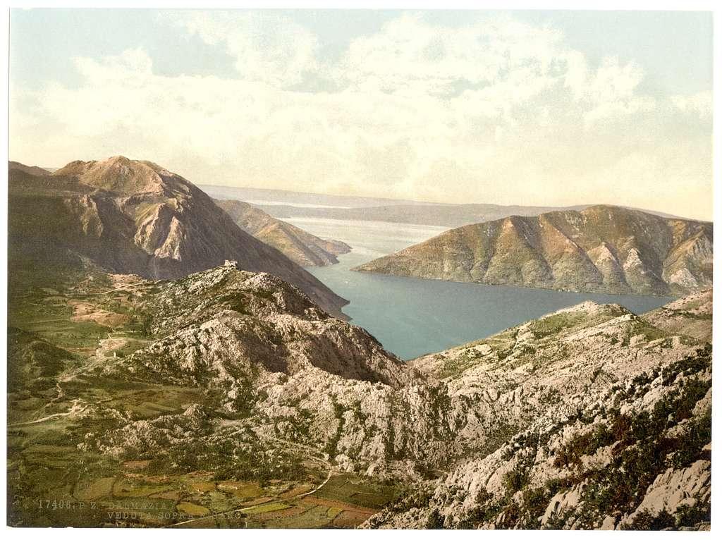 [Risano, looking towards Catena (i.e., Cantene), Dalmatia, Austro-Hungary]