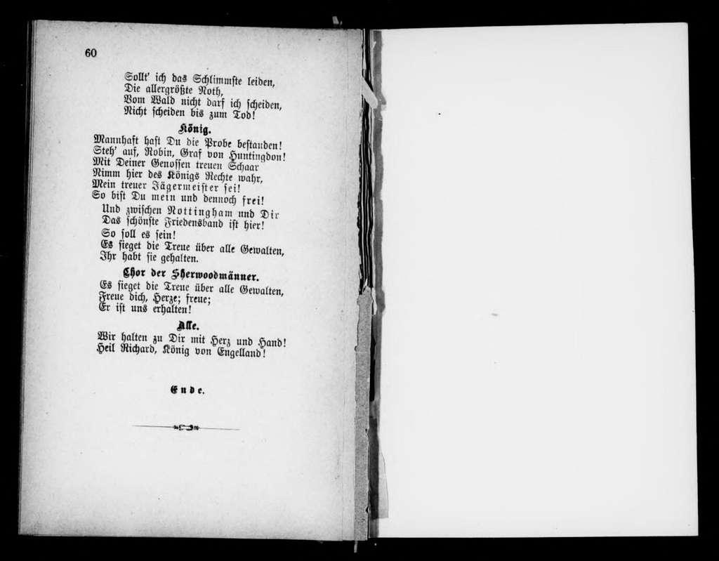 Robin Hood. Libretto. German