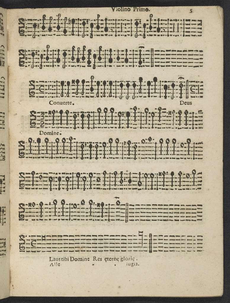 Salmi di compieta a trè e quattro voci concertati, con violini e ripieni : opera decima