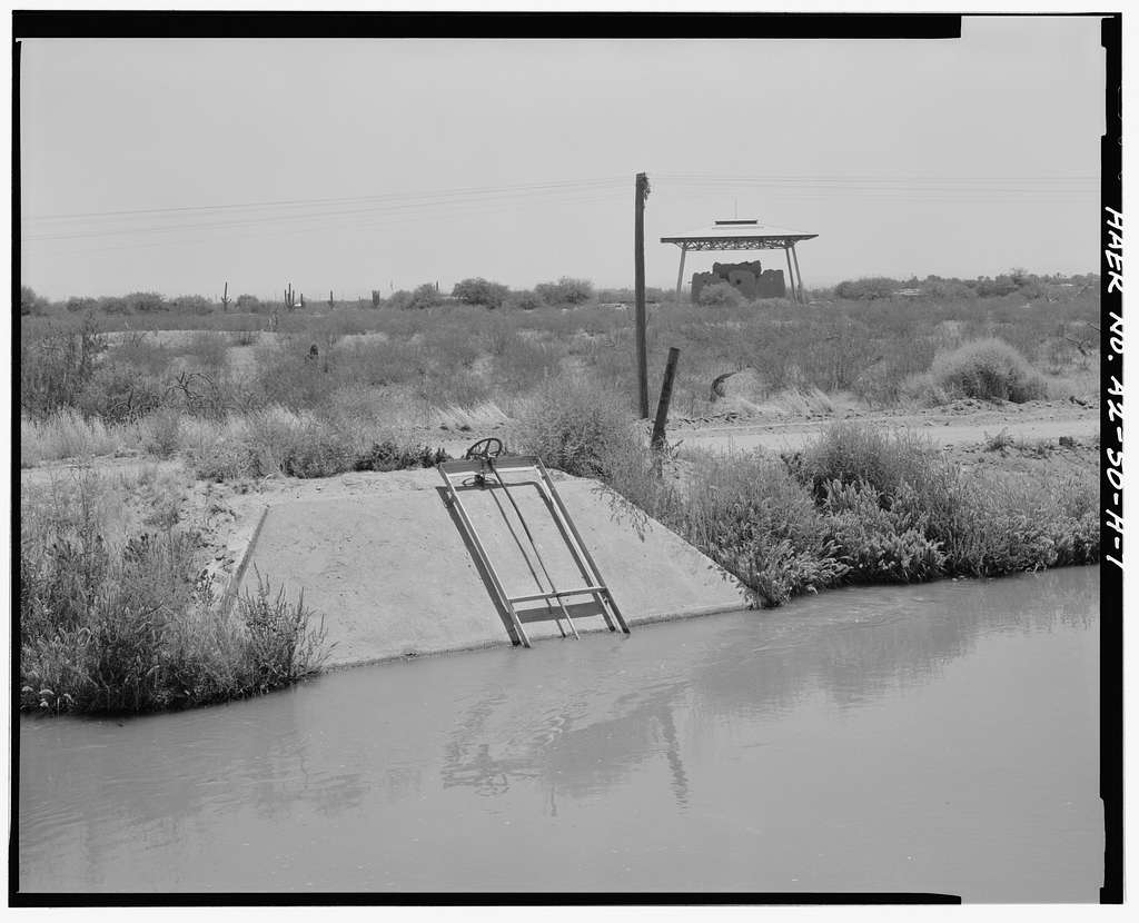 San Carlos Irrigation Project, Pima Lateral, Main Canal at Sacaton Dam, Coolidge, Pinal County, AZ