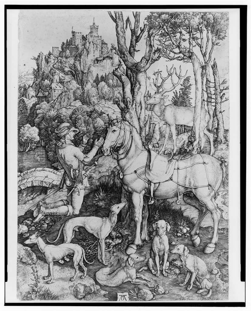 [St. Eustace] / AD [monogram].