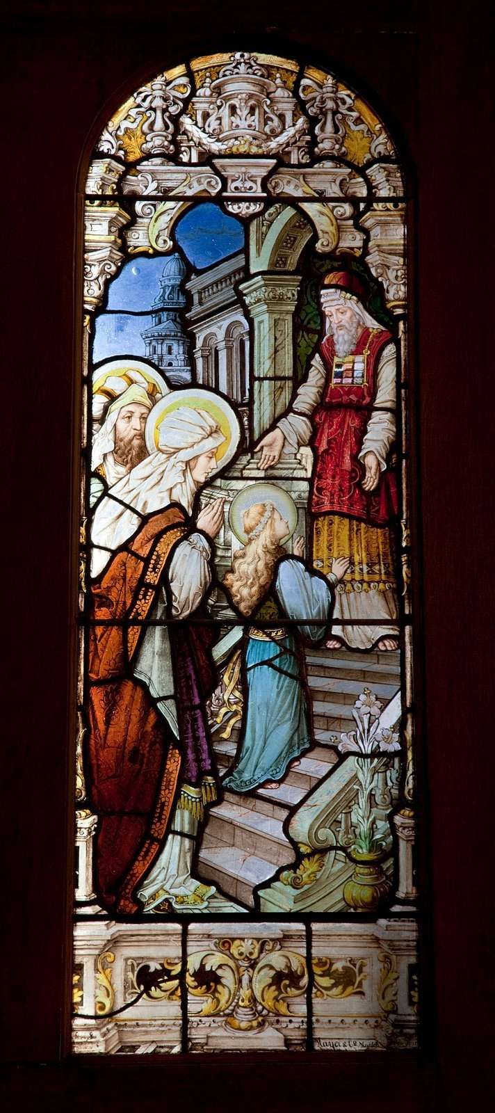 Stained glass window, Cathedral of the Immaculate Conception, Mobile, Alabama