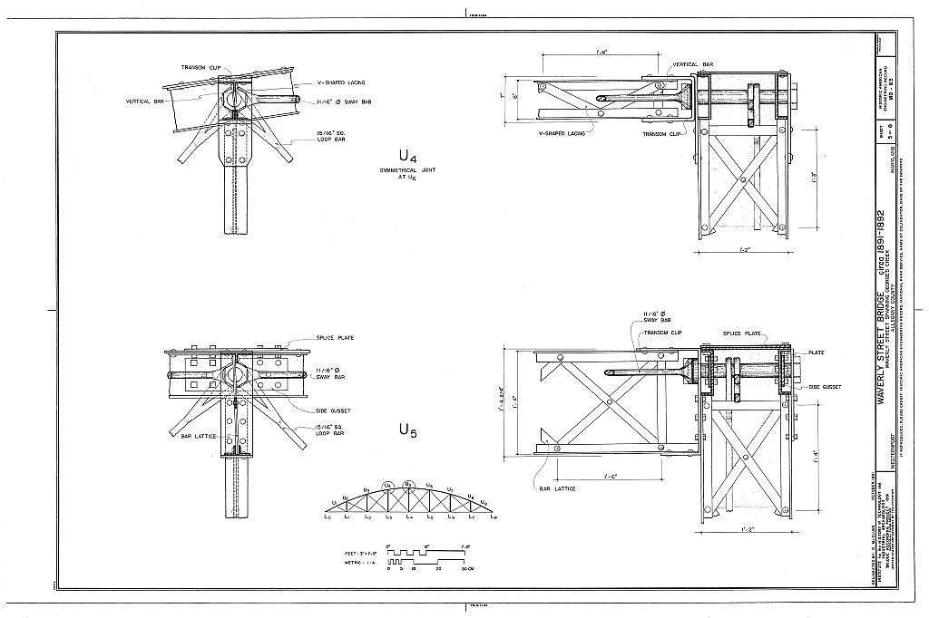 Waverly Street Bridge, Spanning George's Creek, Westernport, MD, Westernport, Allegany County, MD