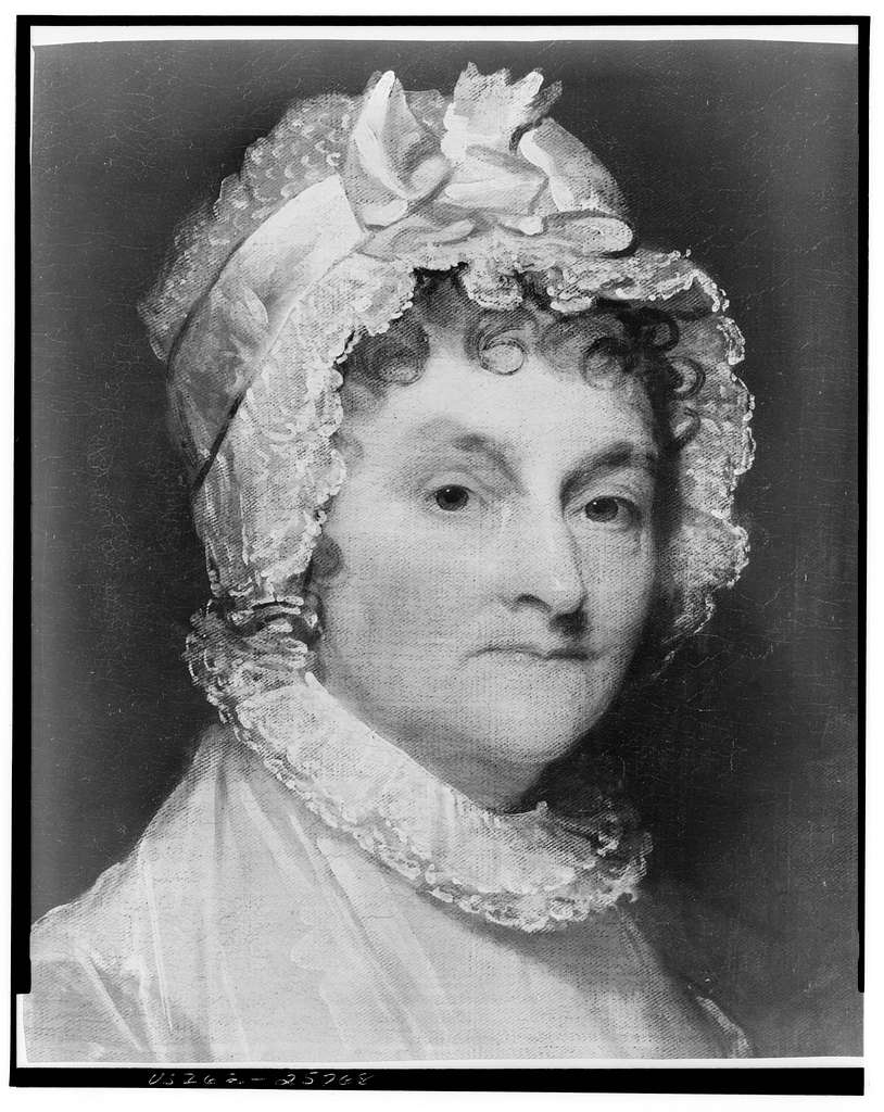 Abigail Smith Adams wife of John Adams / photo of portrait by Gilbert Stuart.
