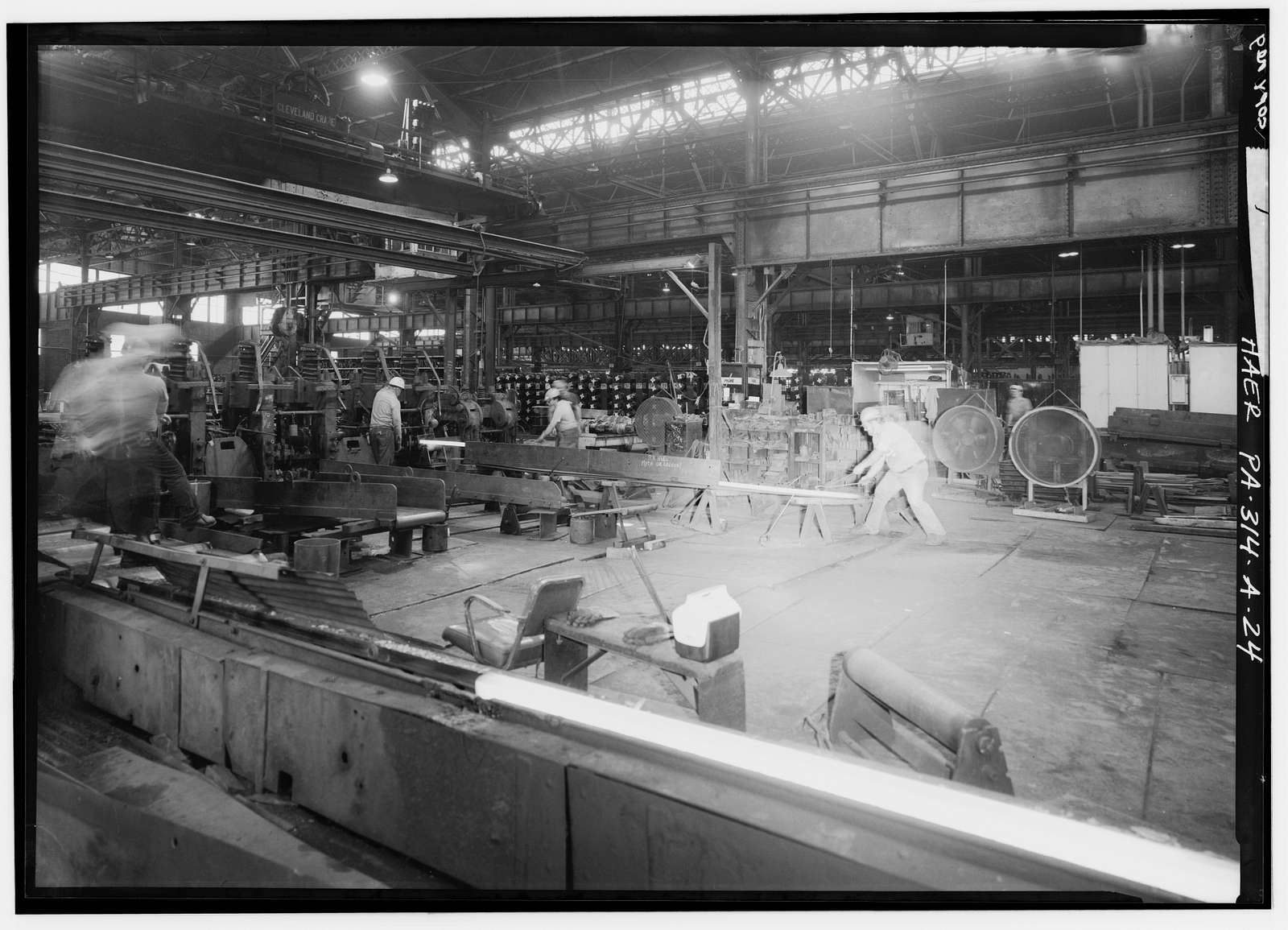 "Cambria Iron Company, Gautier Works, 12"" Mill, Clinton Street & Little Conemaugh River, Johnstown, Cambria County, PA"