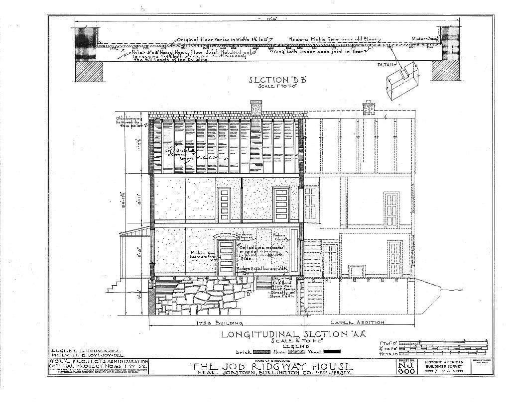 Job Ridgway House, Jobstown, Burlington County, NJ