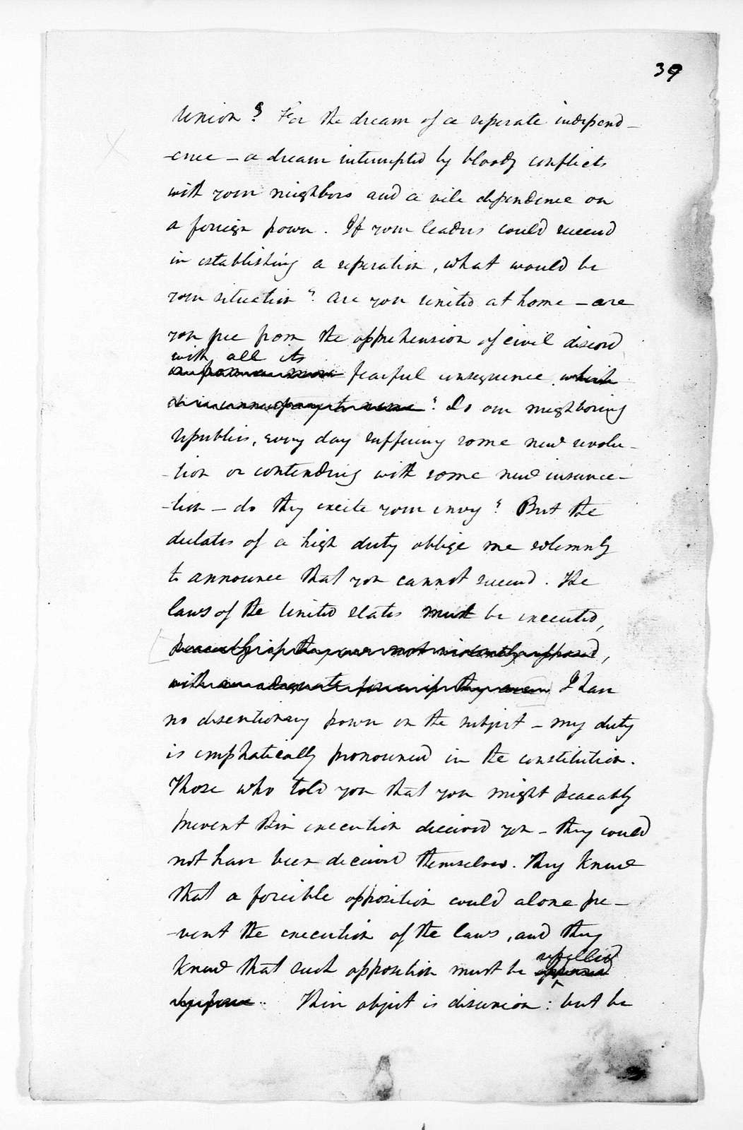 Andrew Jackson, December 4, 1832