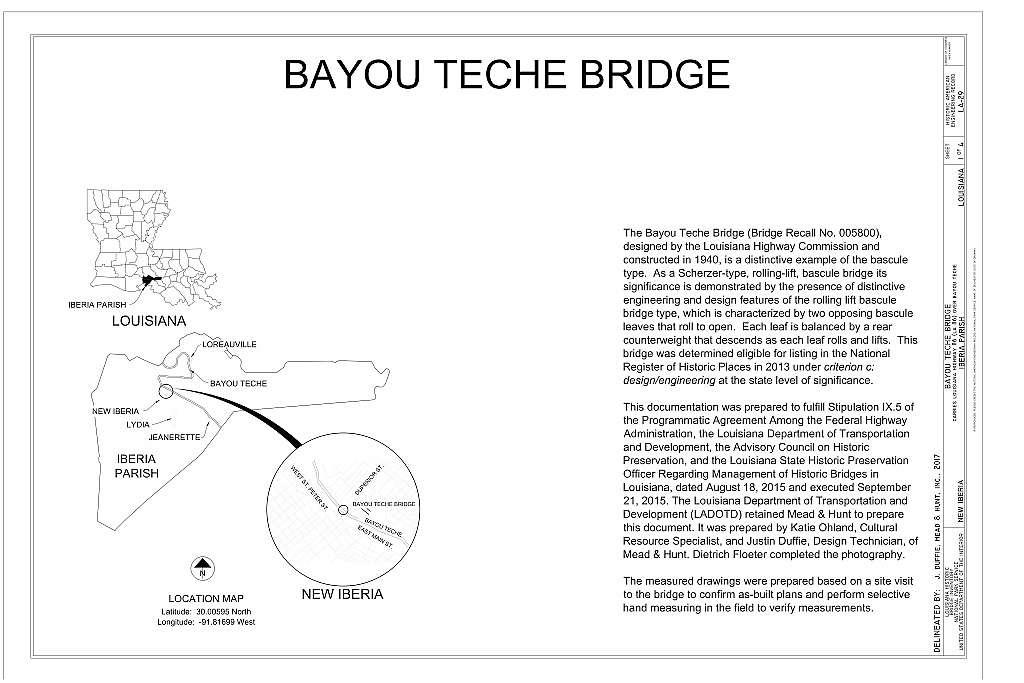Bayou Teche Bridge, Carries Louisiana Highway 86 (LA 86) over Bayou Teche, New Iberia, Iberia Parish, LA