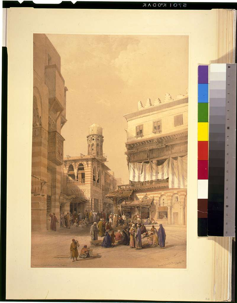 Bazaar of the coppersmiths--Cairo / David Roberts, R.A.