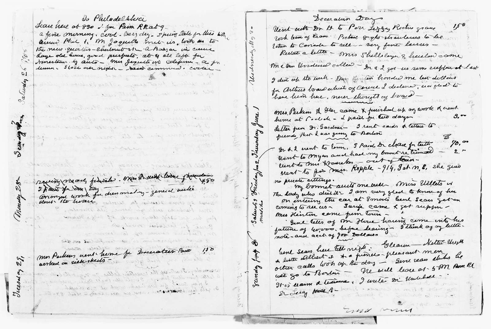 Clara Barton Papers: Diaries and Journals: 1906, Jan.-Aug.