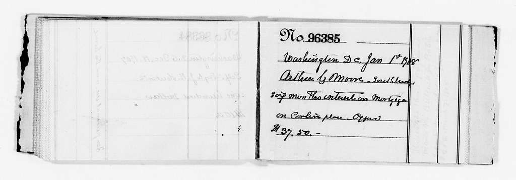 Clara Barton Papers: Miscellany, 1856-1957; Financial and legal papers; Checks and checkbooks, 1883-1912