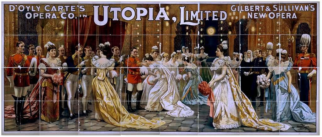 D'Oyly Carte's Opera Co. in Utopia, limited Gilbert & Sullivan's new opera.