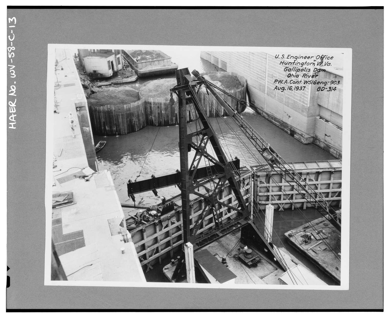 Gallipolis Locks & Dam, Locks, Across Ohio River, Gallipolis, Mason County, WV