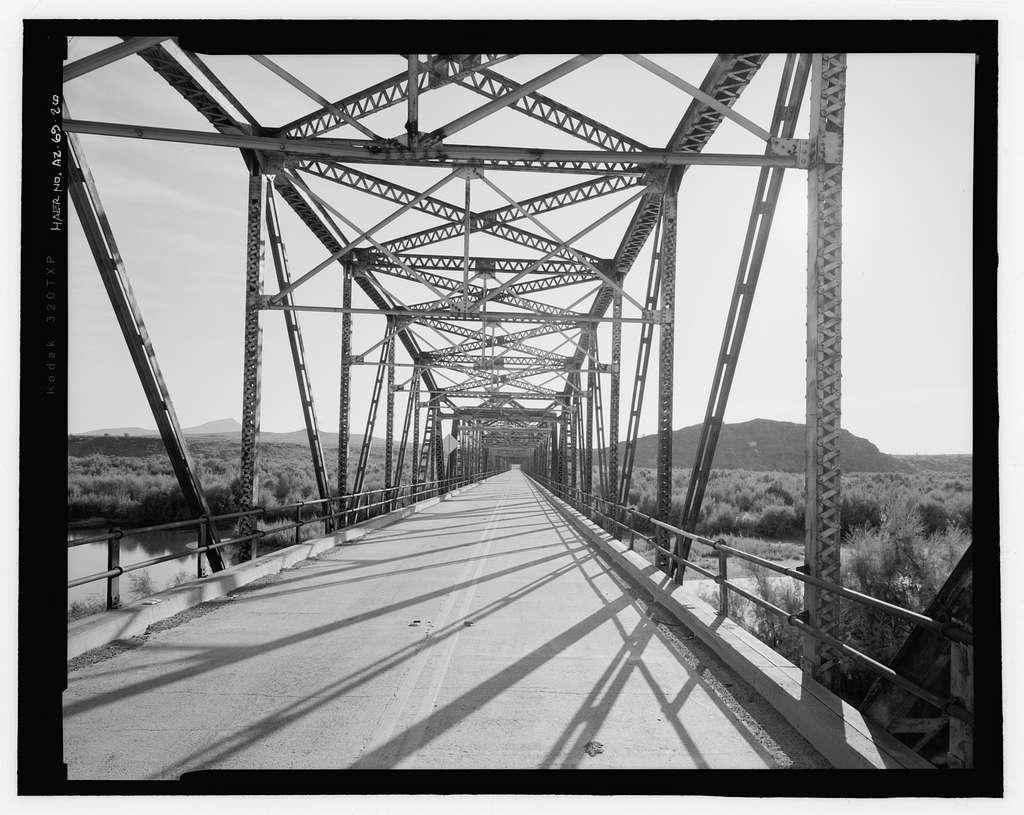 Gillespie Dam Bridge, Spanning Gila River on Old US 80 Highway, south of Gillespie Dam, Arlington, Maricopa County, AZ