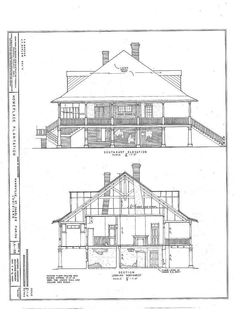Homeplace Plantation, River Road, Hahnville, St. Charles Parish, LA