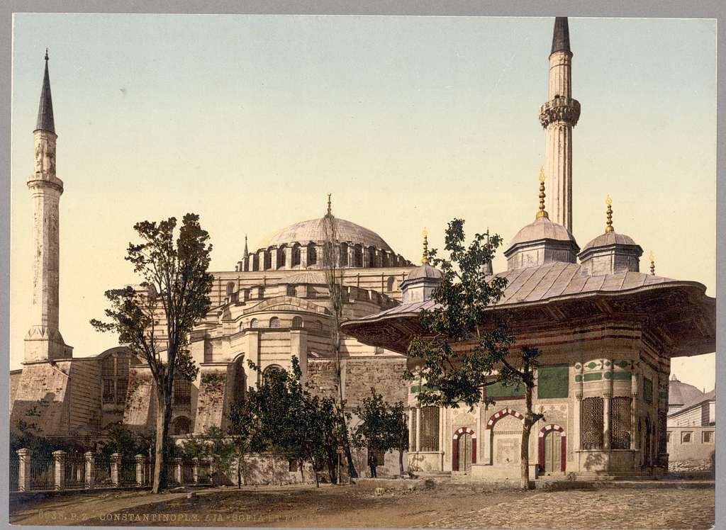 [Mosque of St. Sophia and Ahmed III fountain, Constantinople, Turkey]