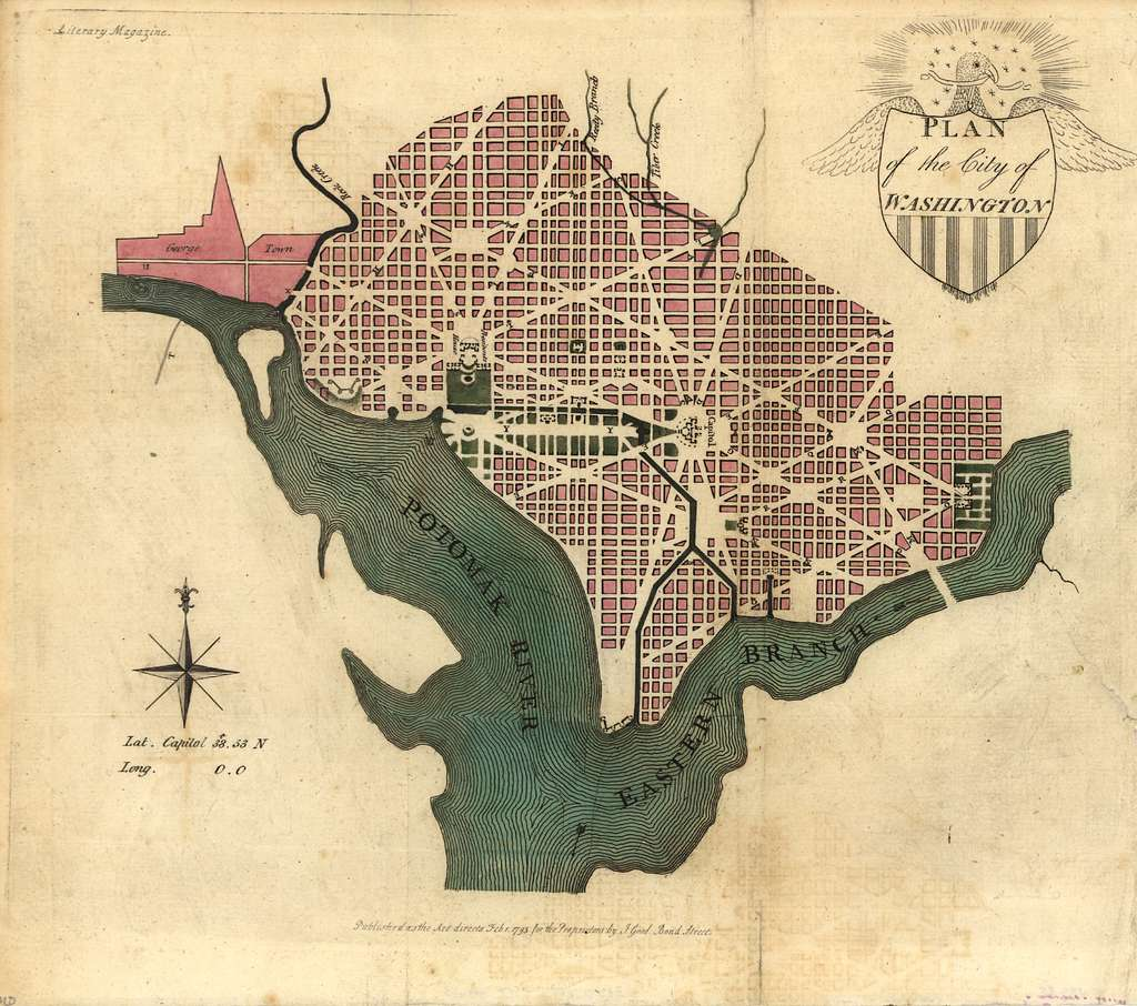 Plan of the city of Washington.