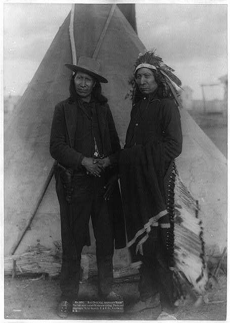 """""""Red Cloud and American Horse."""" The two most noted chiefs now living"""