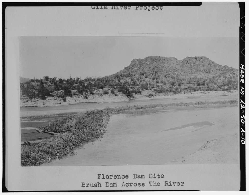 San Carlos Irrigation Project, Ashurst-Hayden Dam, Gila River, T4S R11E S7, Coolidge, Pinal County, AZ