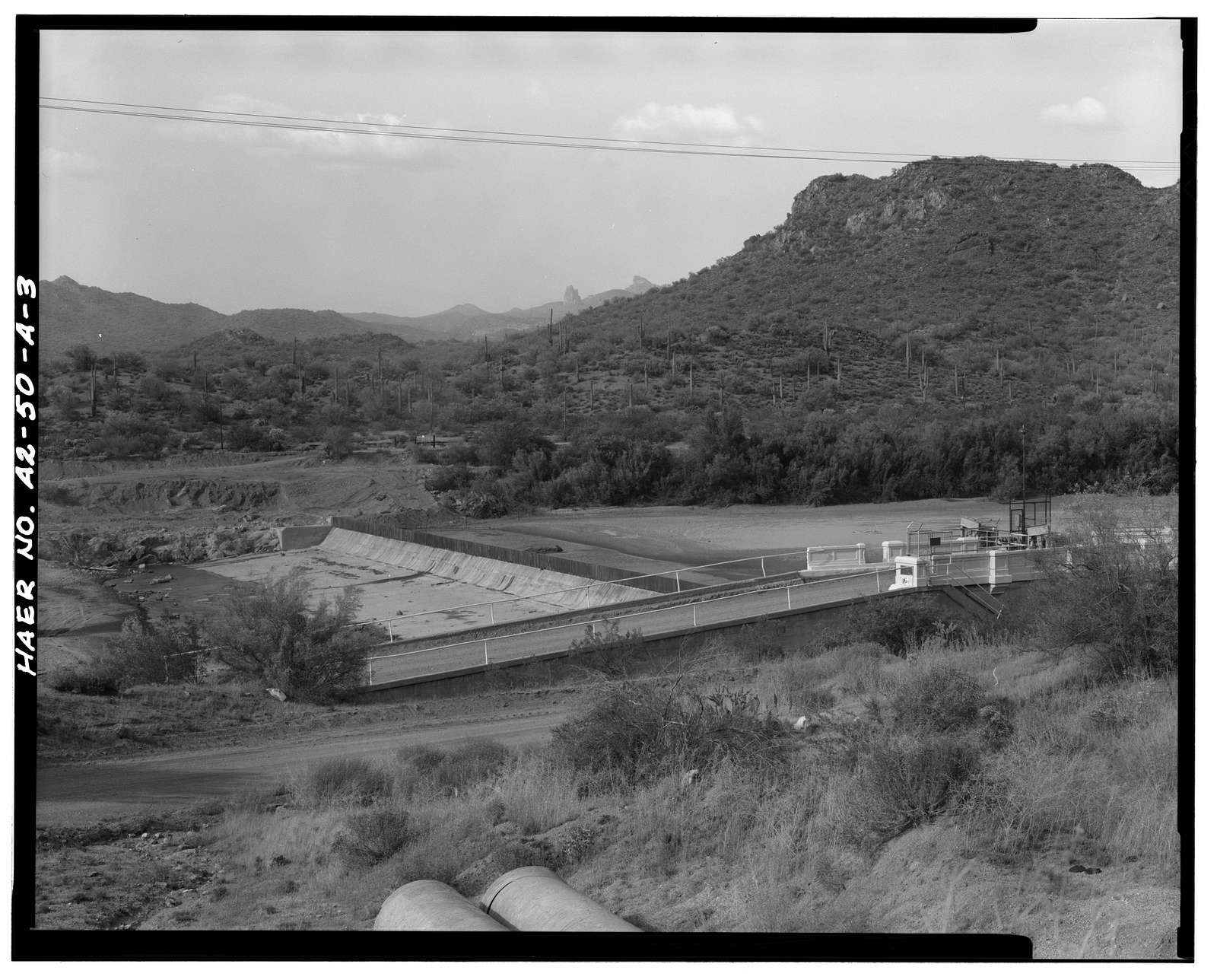 San Carlos Irrigation Project, Ashurst-Hayden Dam, Gila River, T4S R11E S7, Coolidge, Pinal County, AZ