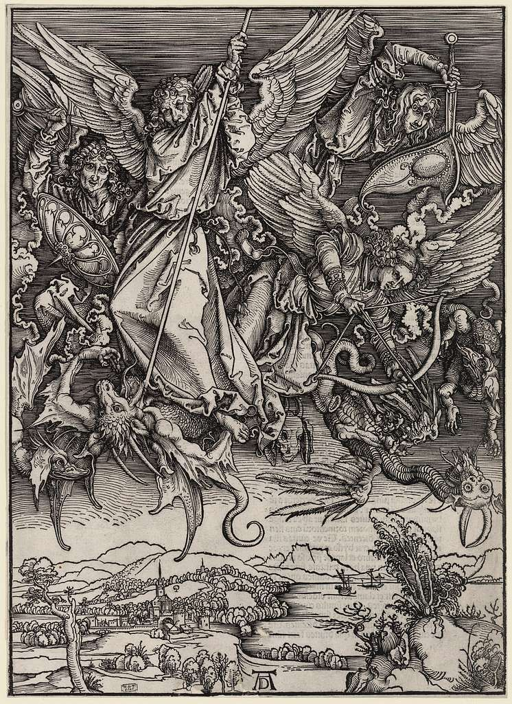 [St. Michael fighting the dragon] / AD.