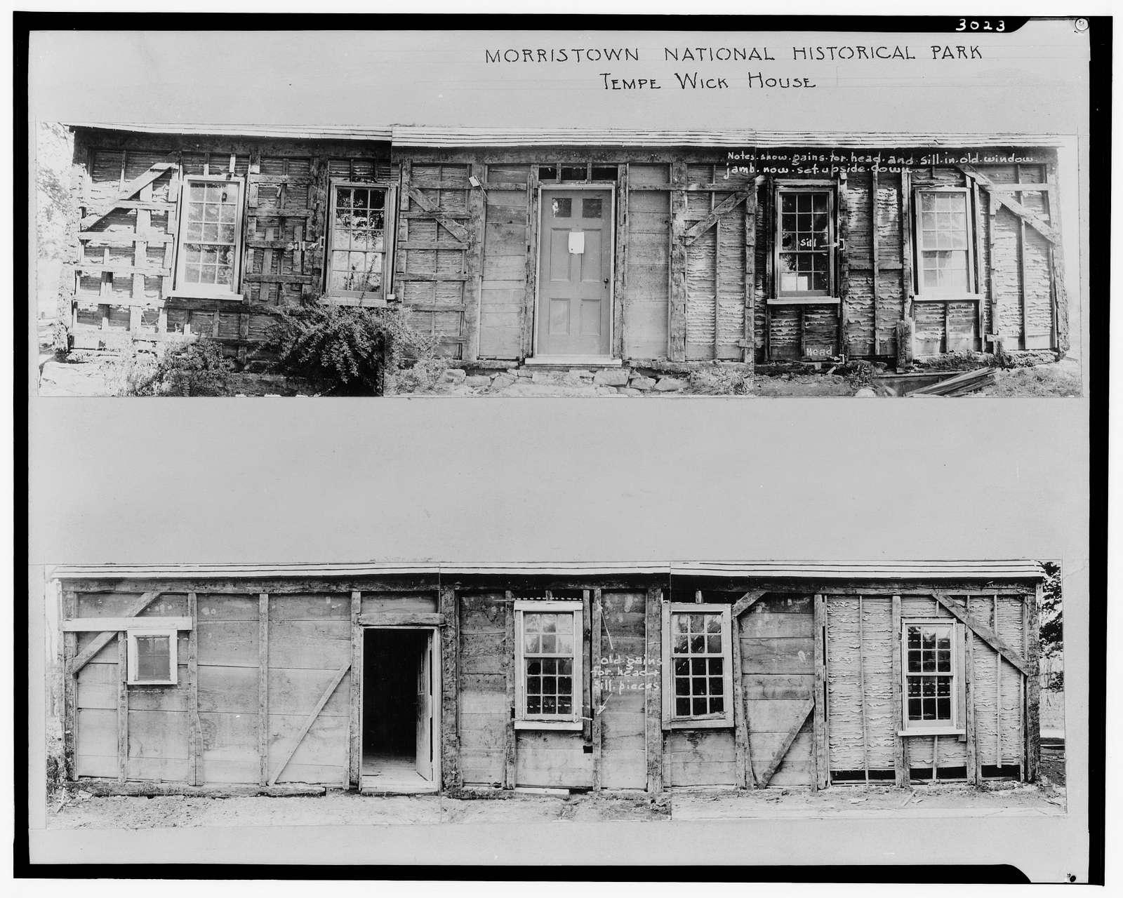 Tempe Wick House, Mendham Road, Jockey Hollow, Morristown, Morris County, NJ
