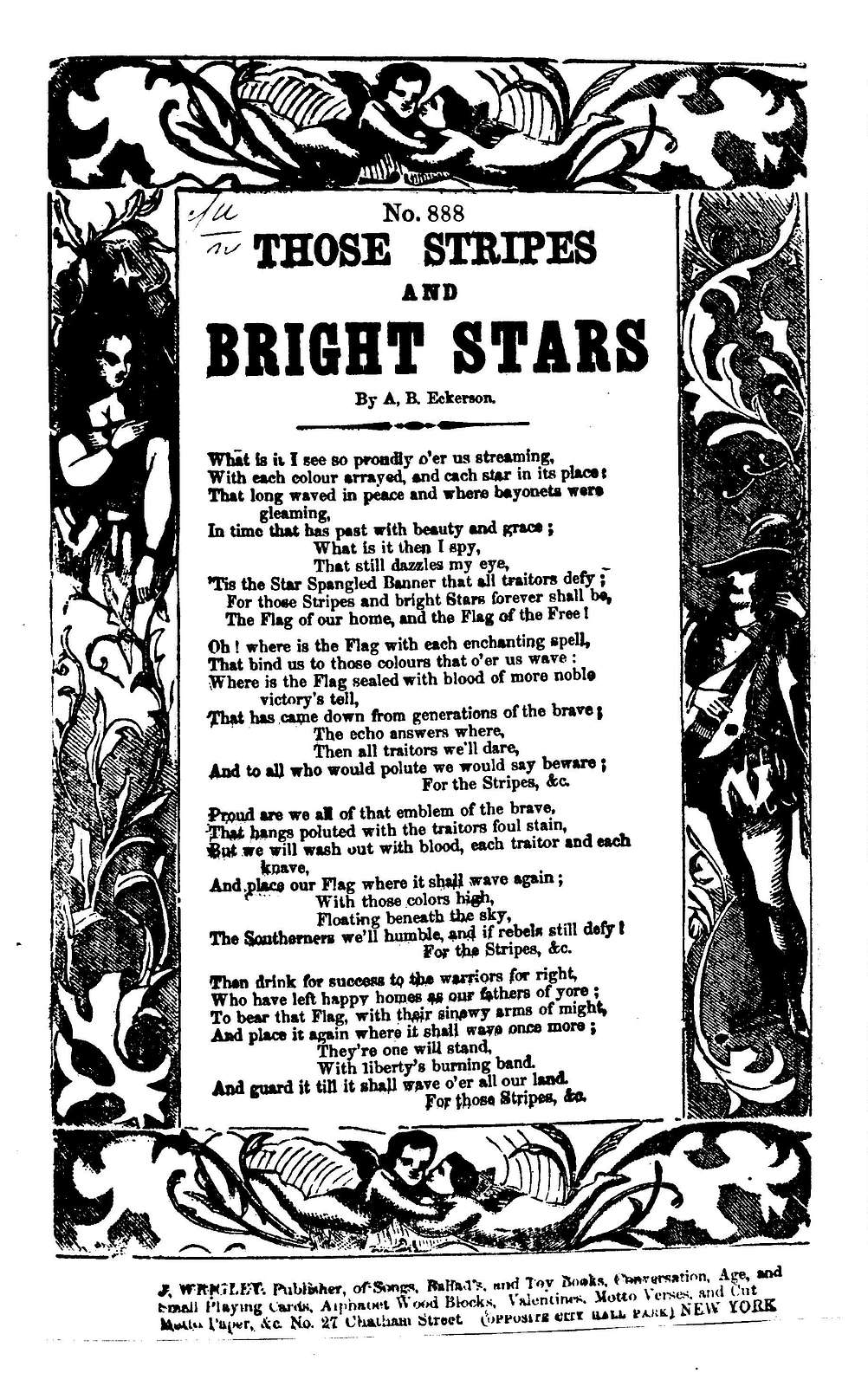 Those stripes and bright stars. By A. B. Eckerson ... J. Wrigley, Publisher, ... New York
