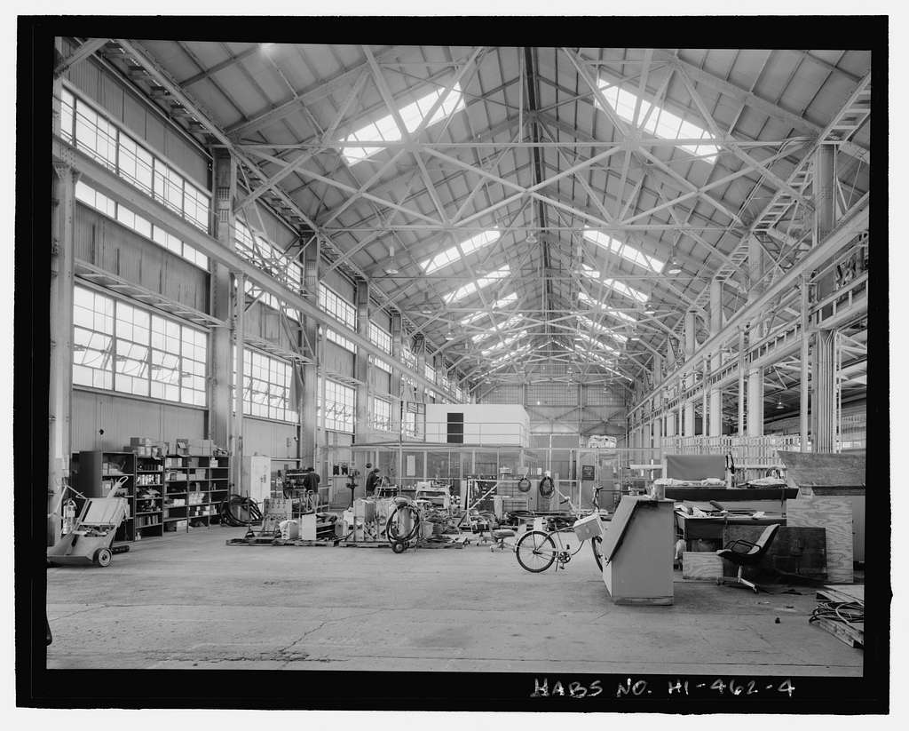 U.S. Naval Base, Pearl Harbor, Steel Storehouse, Intersection of Seventh Street & Avenue E, Pearl City, Honolulu County, HI