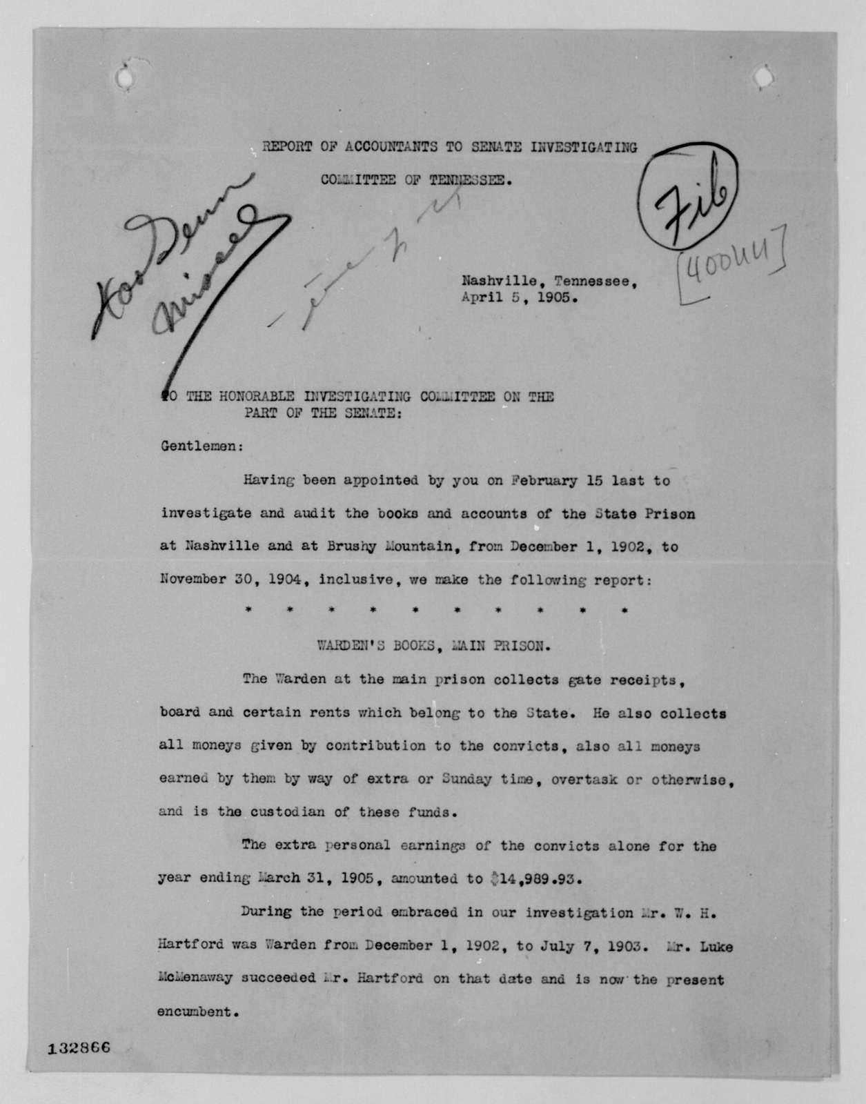 Woodrow Wilson Papers: Series 4: Executive Office File, 1912-1921; 400UU, 1913-1916