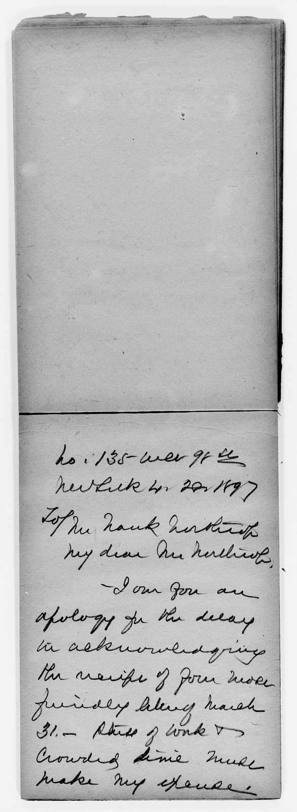 Anna E. Dickinson Papers: Speeches and Writings File, 1868-1907; Miscellany; Notes; 3 of 9