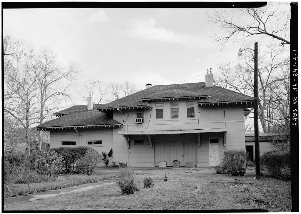 Burgess-Maschmeyer House, Carriage House, 1207 Government Street, Mobile, Mobile County, AL