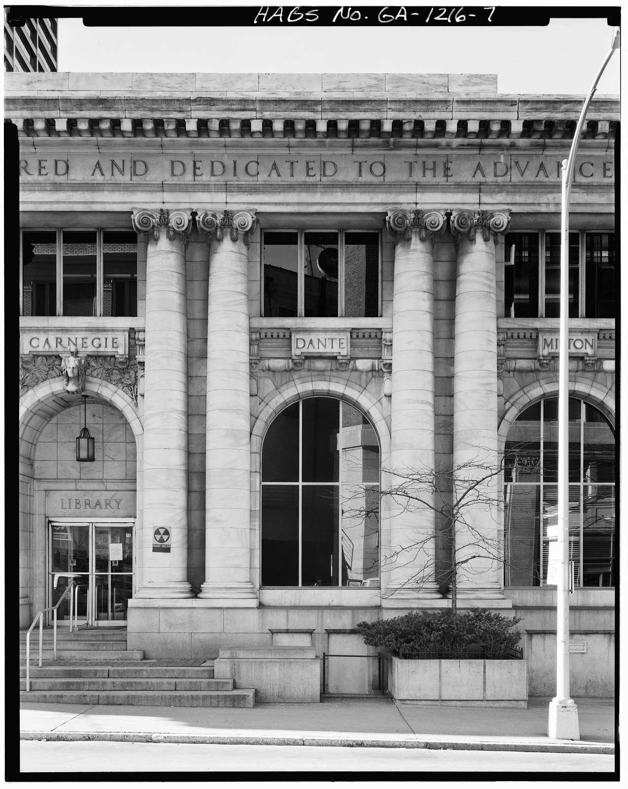 Carnegie Library of Atlanta, 126 Carnegie Way, Atlanta, Fulton County, GA