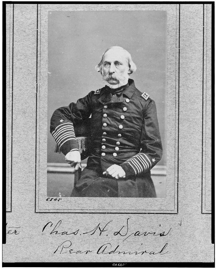 [Chas. H. Davis, Rear Admiral, three-quarter length portrait, seated, facing slightly left]
