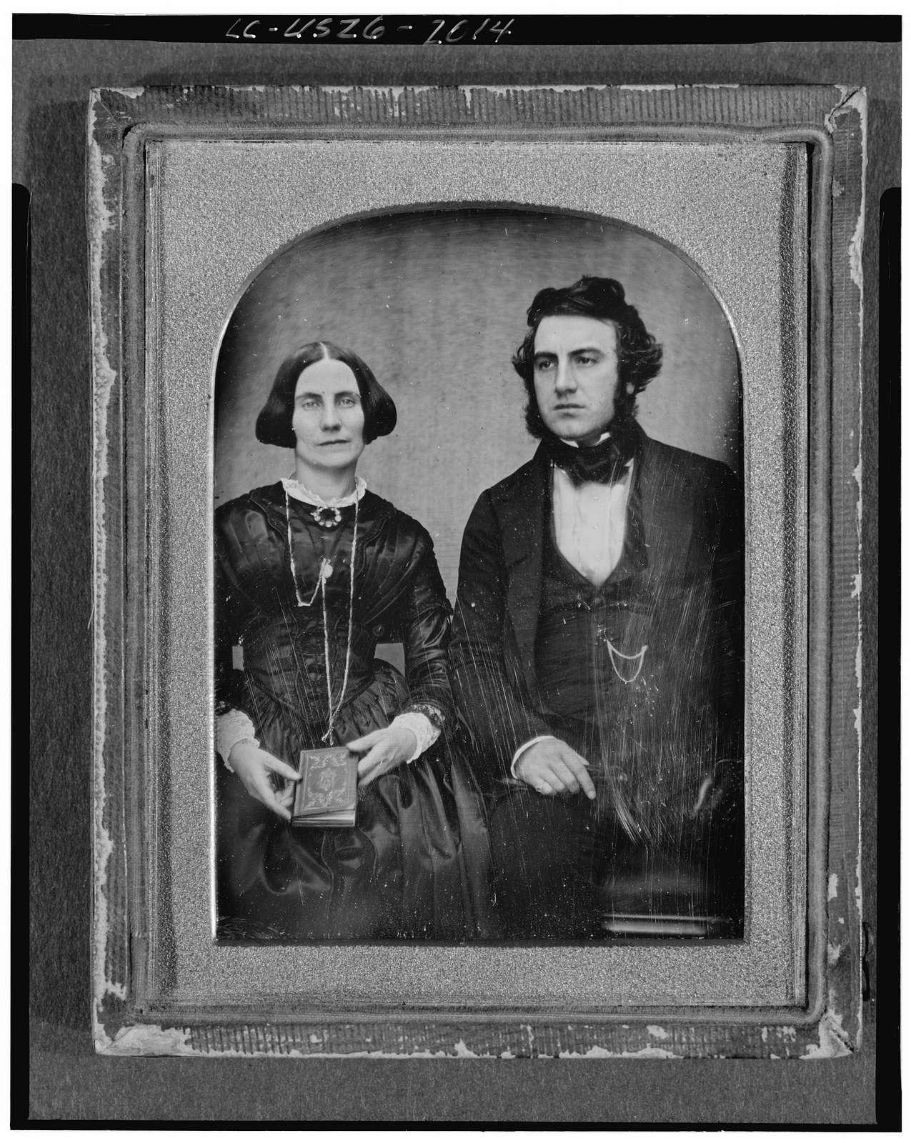 [David and Ellen Bell, three-quarter length portrait, seated]