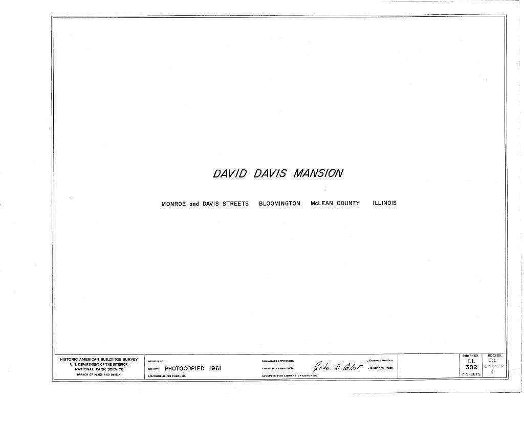 David Davis Mansion, Monroe & Davis Streets, Bloomington, McLean County, IL
