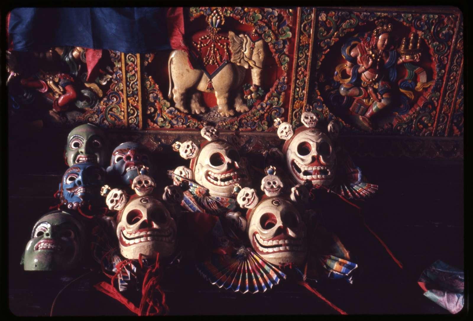 [Deity and skeleton masks, Gangtok, Sikkim]