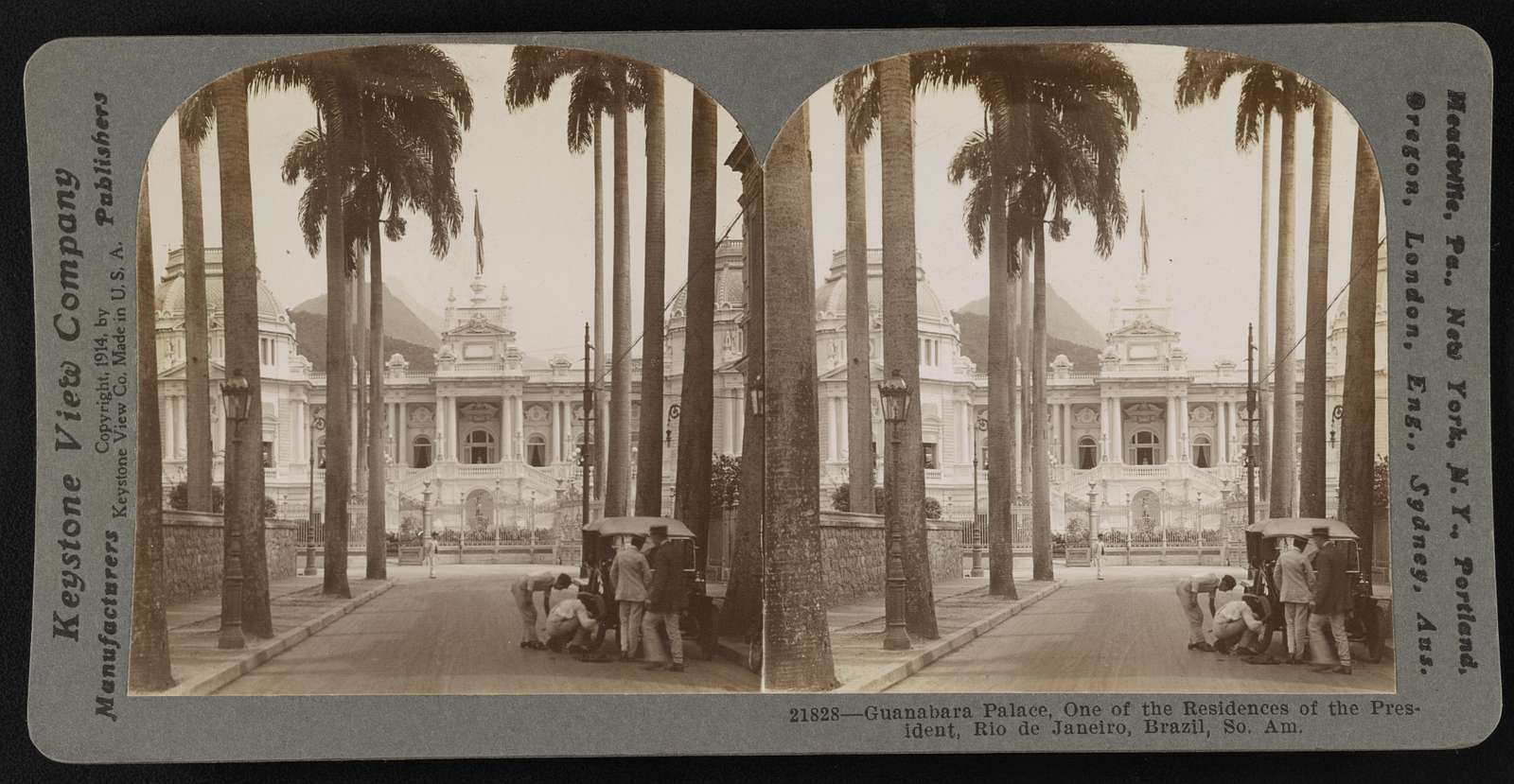 Guanabara Palace, one of the residences of the President, Rio de Janeiro, Brazil, So. Am.