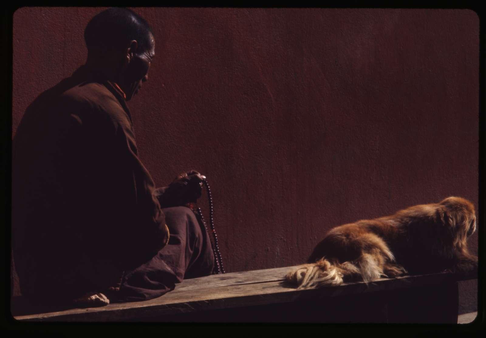 [Lama in meditation, Sikkim]