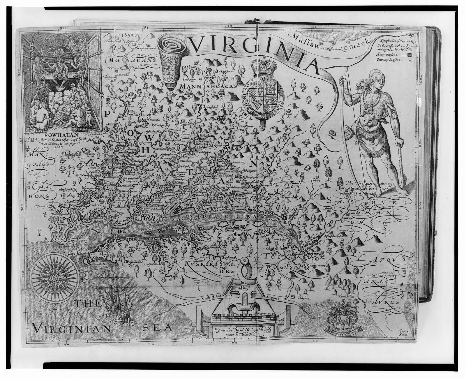[Map of Virginia] / discovered and discribed [sic] by Captain John Smith 1606 [?] William Hole.