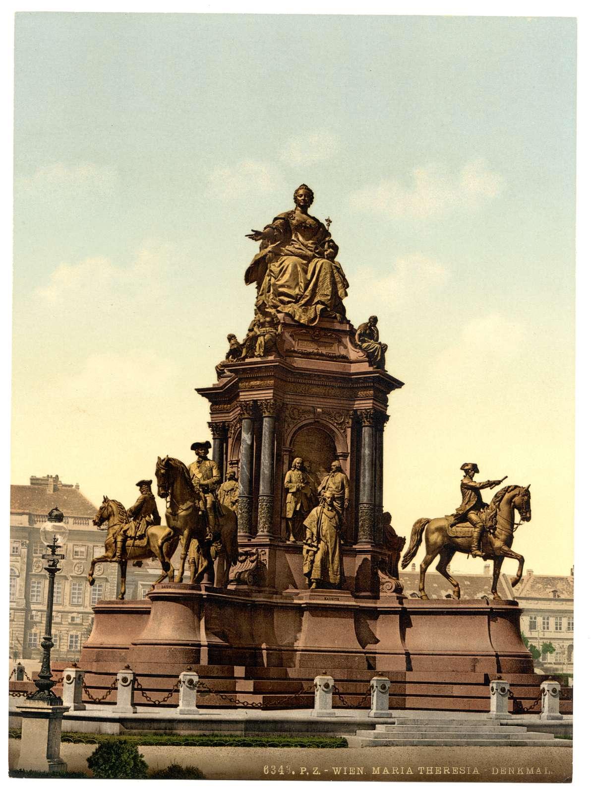 [Maria Theresa Monument, Vienna, Austro-Hungary]
