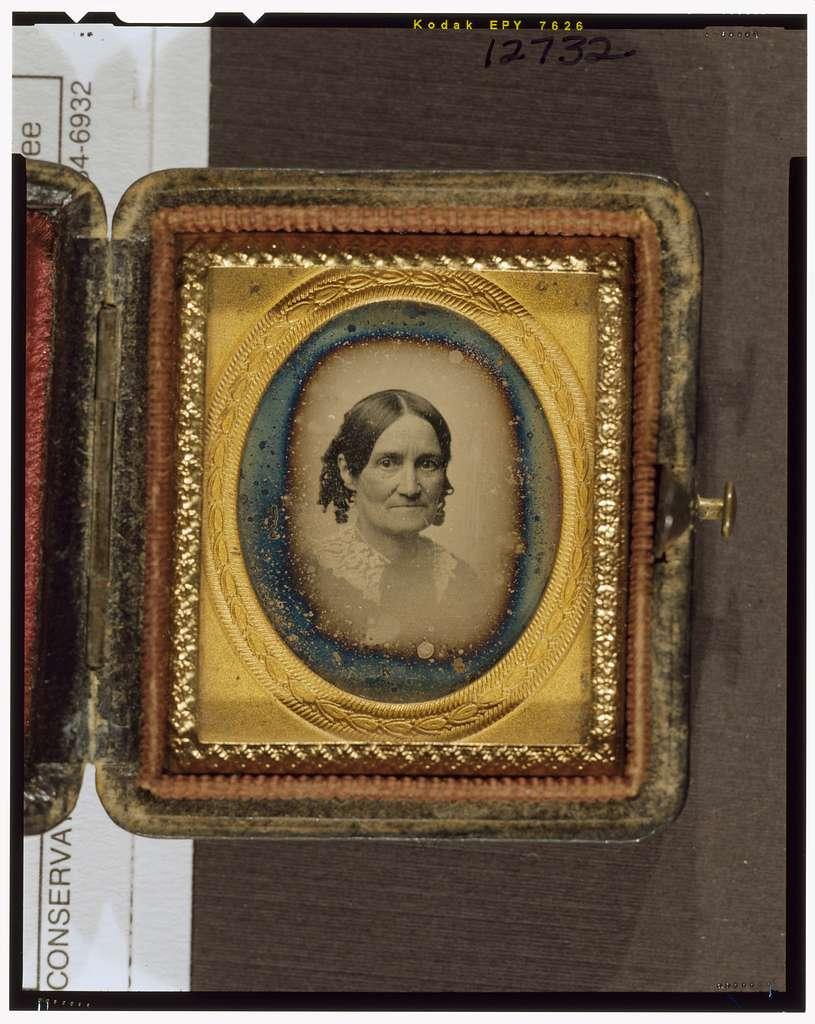 [Mrs. Stevens Everett, bust-length portrait, facing right]