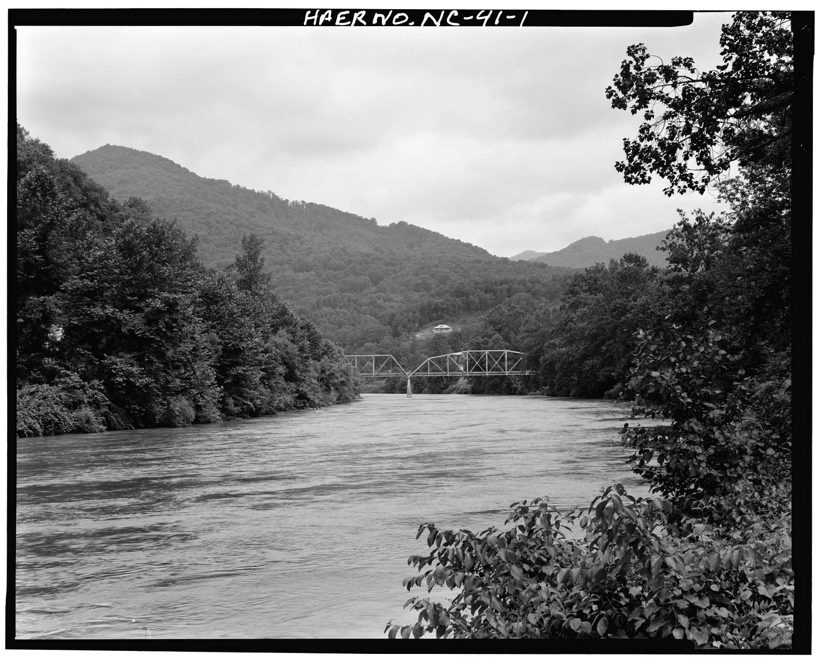 North Carolina Route 1314 Bridge, Spanning Toe River, Relief, Mitchell County, NC