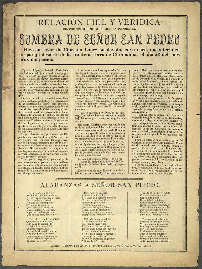 Oración dedicada a la sombra de Señor San Pedro - PICRYL Public ...