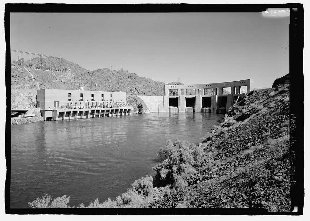 Parker Dam, Spanning Colorado River between AZ & CA, Parker, La Paz County, AZ